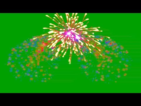 Green Screen Fireworks sound Overlays HD Animation Футаж Салют хромакей