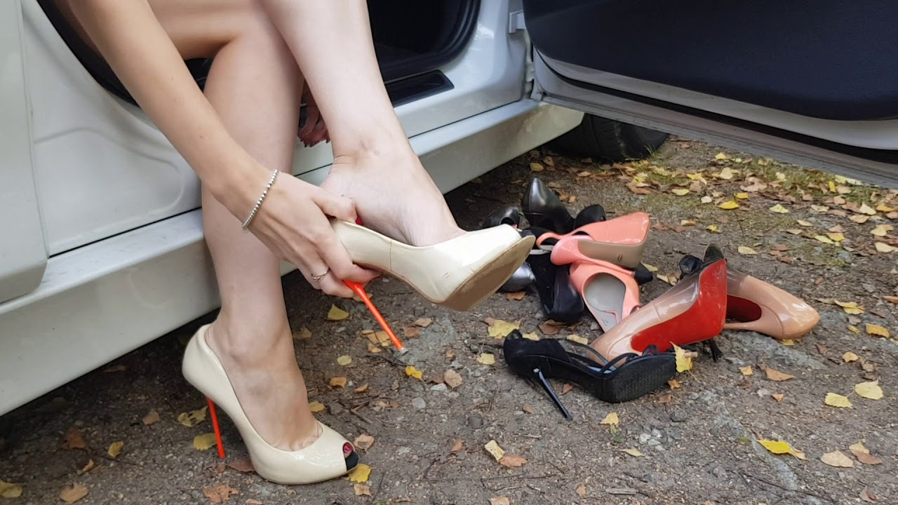 well worn shoes for sale, shoeplay, high heels play, free video