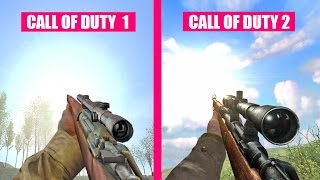 Call of Duty 1 Gun Sounds vs Call of Duty 2