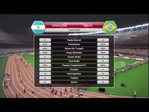 Pro Evolution Soccer 2014 (PES 2014) - Argentina v Brazil gameplay