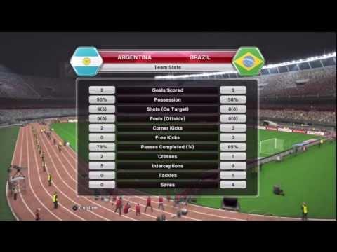 Pro Evolution Soccer 2014 PES 2014  Argentina v Brazil gameplay