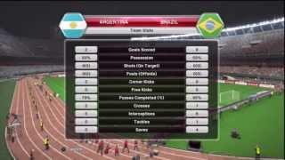 Pro Evolution Soccer 2014 (PES 2014) - Argentina v Brazil gameplay