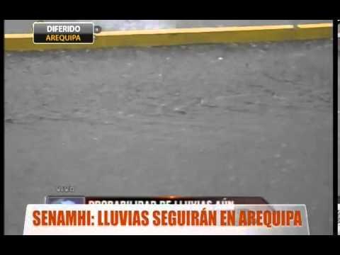 Senamhi: Lluvias seguirán en Arequipa