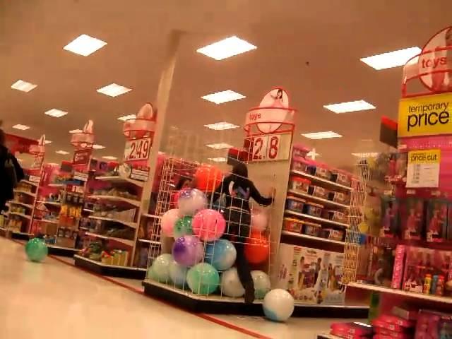 Target Ball Pit Prank
