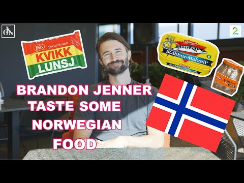 Brandon Jenner tries Norwegian food: – Not at all what I was expecting!