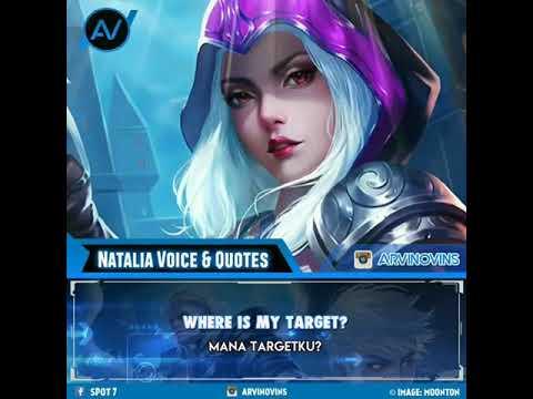 Natalia Voice & Quotes Kata Bijak Mobile Legend Bang Bang
