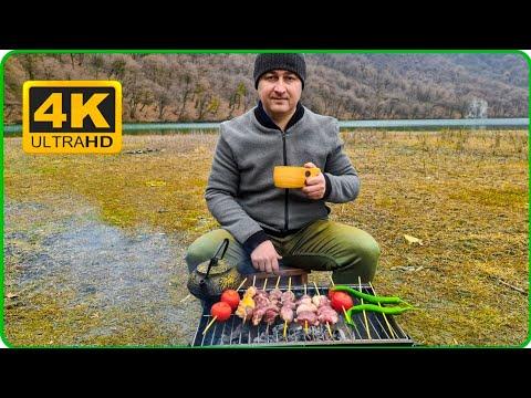 Making kebap by the lake, asmr video, mixed flowers tea mp3