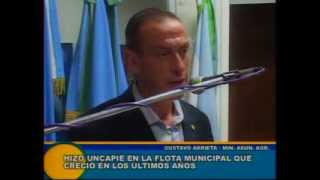 Cañuelas - Gustavo Arrieta hablando sobre el parque automotor de Cañuelas