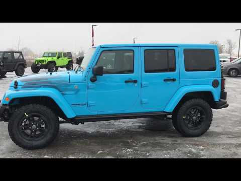 2017 Jeep Wrangler Unlimited Sahara Winter Edition Chief Blue Walkaround Www Summitauto