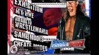 WWE SVR 2009 PS2 Menu music