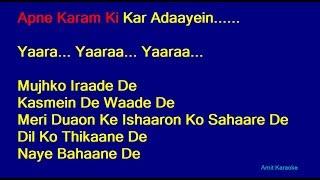 Sun Raha Hai Na Tu - Ankit Tiwari Hindi Full Karaoke with Lyrics