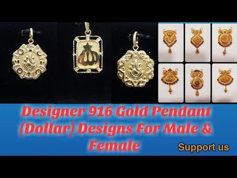 Desiginer 916 Gold Pendant Dollar Designs For Male & Female