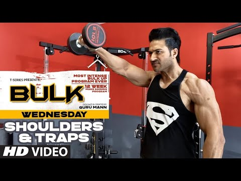 Wednesday | Shoulders & Traps | BULK Mass Building Program | Guru Mann | Health & Fitness thumbnail