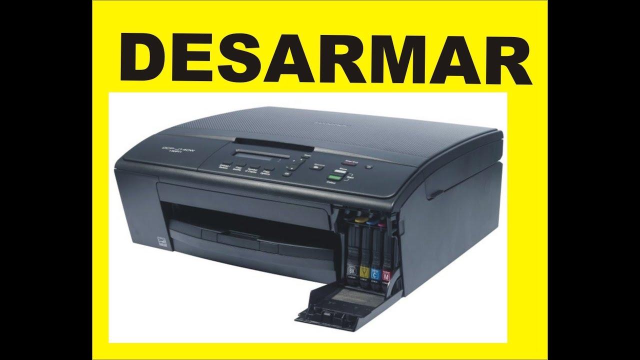 desarmar brother dcp j140w youtube rh youtube com  guia del usuario impresora brother dcp-j140w