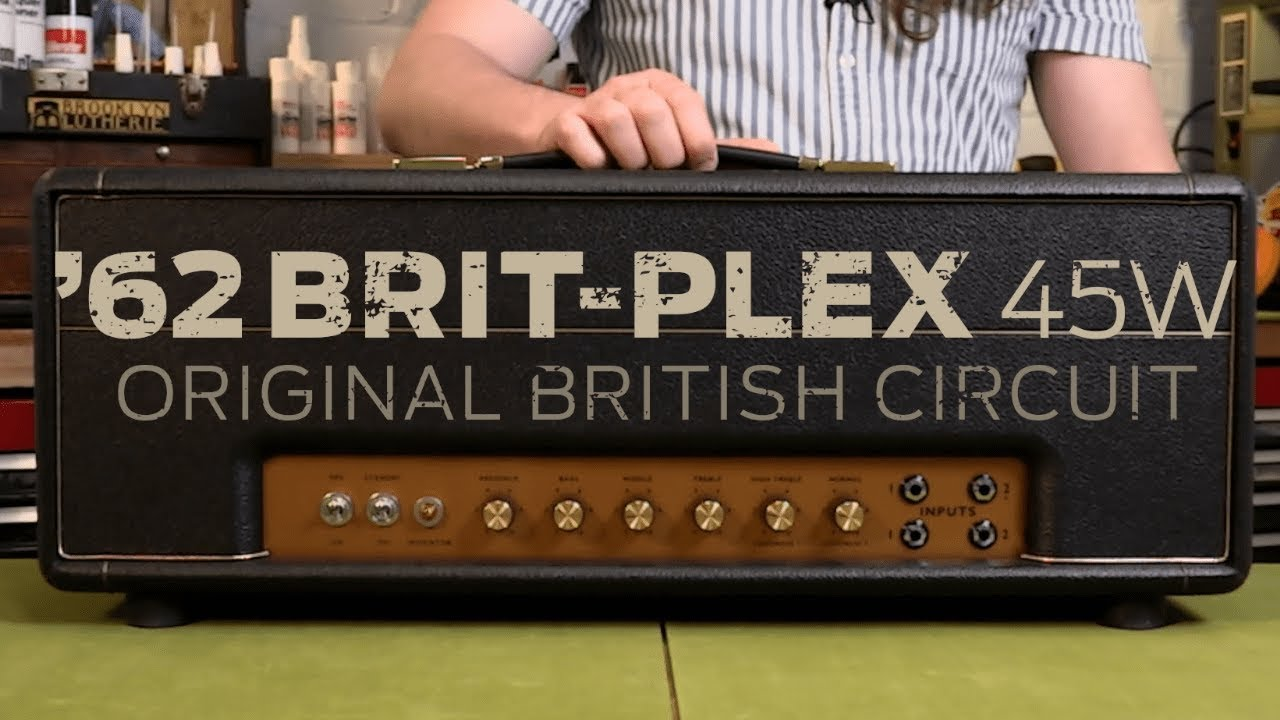 hear the new stewmac 62 brit plex amp kit a hand wired jtm 45 plexi style head in a kit  [ 1280 x 720 Pixel ]