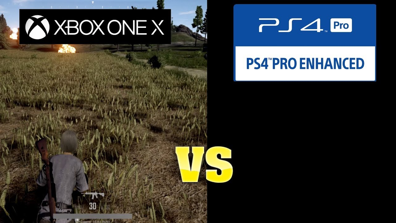 Playerunknown S Battlegrounds Graphics Comparison Xbox One X Vs