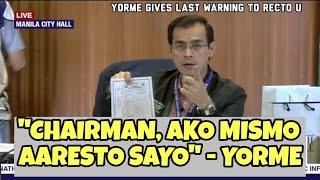Mayor ISKO warns Recto chairman
