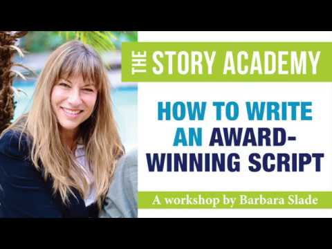 'How To Write An Award-Winning Script' Workshop