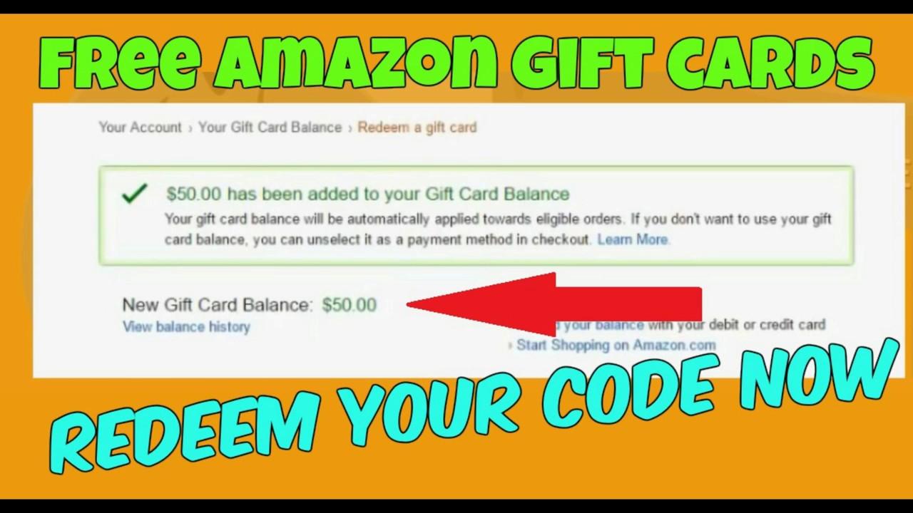 How To Get Free Amazon Gift Cards Codes 100 Working Youtube