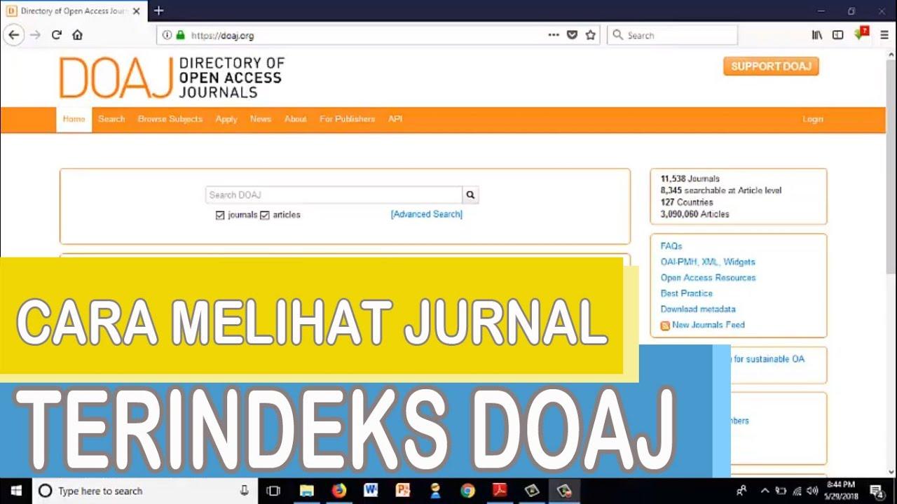 cara melihat jurnal indonesia yang terindeks DOAJ - YouTube