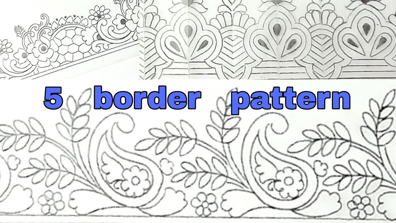5 saree border design drawing/how to draw saree border design/design drawing. #1
