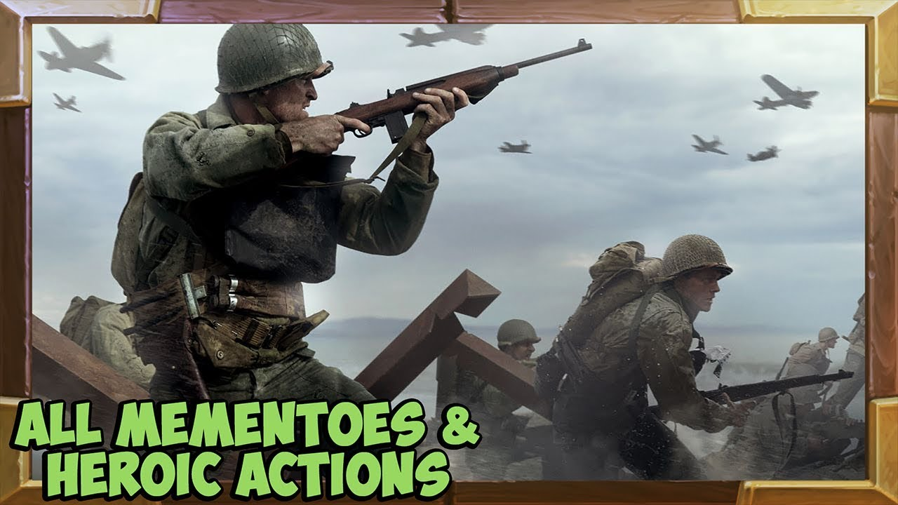 Call of Duty WW2 All Collectibles (Mementos / Heroic Actions)