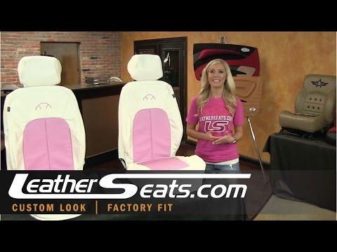 Volkswagen Beetle Custom 2-Tone White & Pink Leather Interior Upgrade kit - LeatherSeats.com