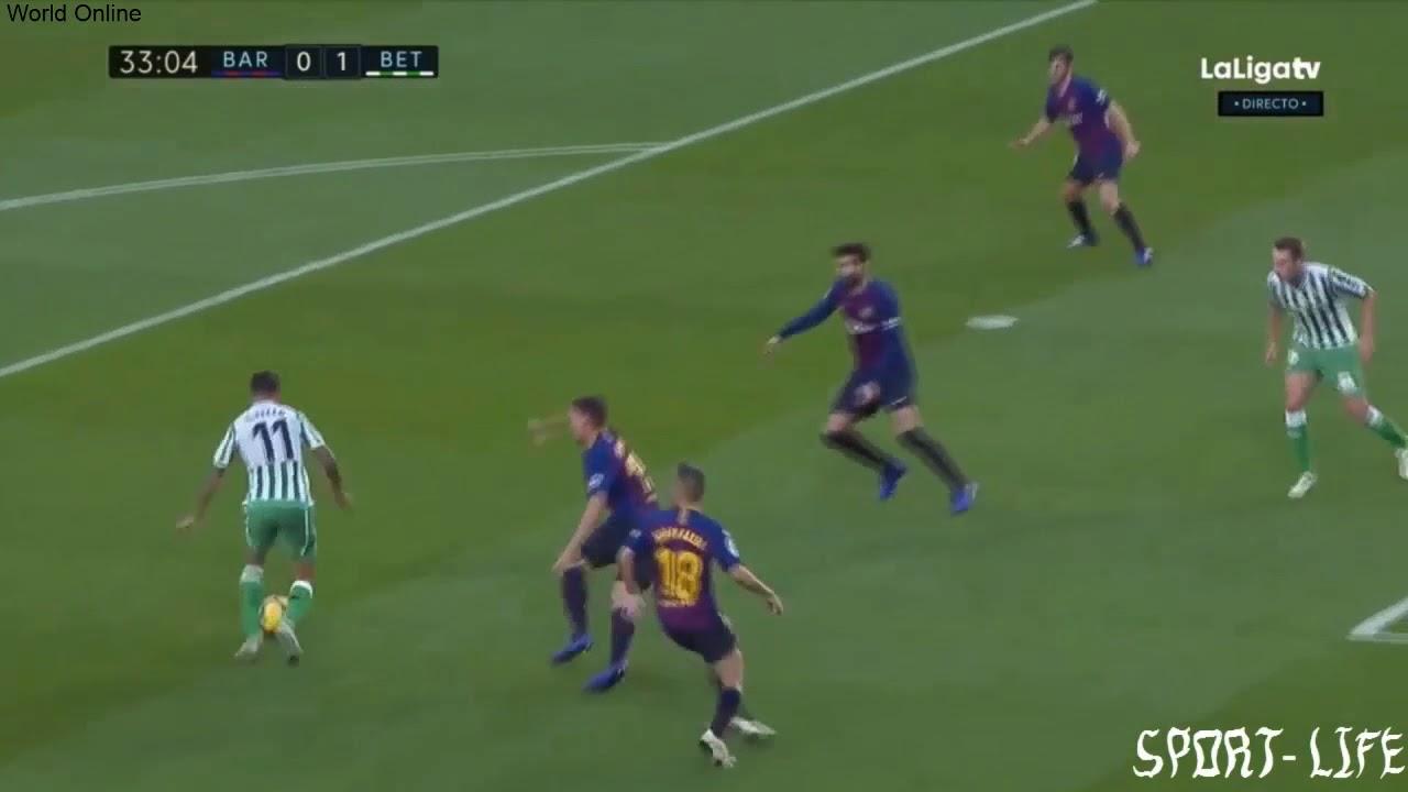 Барселона бетис 3 1 видео