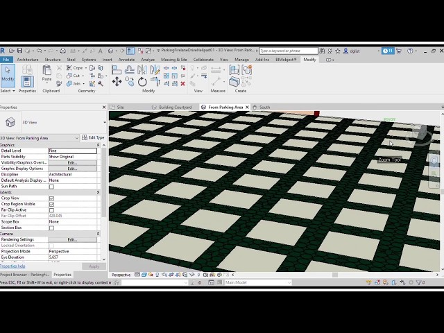 LID - Designing in Revit with TRUEGRID BIM objects.