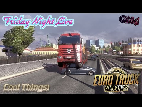 Euro Truck Simulator 2 Multiplayer Fun Live Stream W/QnA - Friday Night Live W/TheBlackMamba !