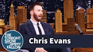 Chris Evans' Rescue Dog Loves to Sit on His Niece