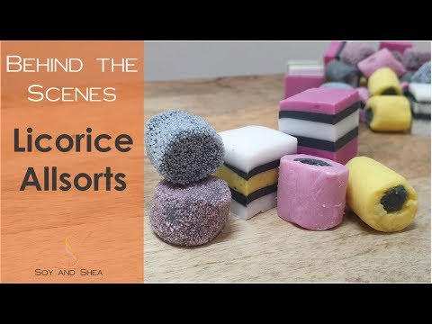 Making Licorice Allsorts With Melt & Pour And Soap Dough! | Soy And Shea