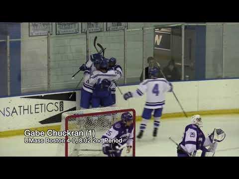 UMass Boston Men's Hockey vs. Curry College (10/28/17) Highlights