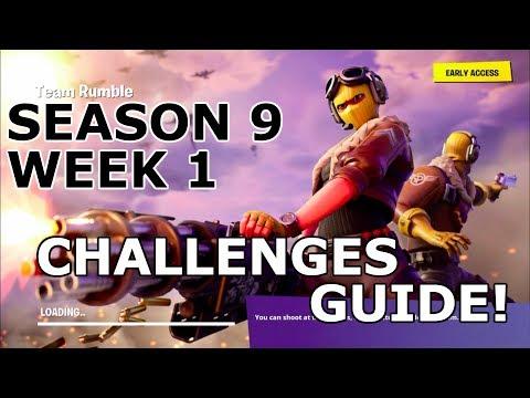 FORTNITE SEASON 9 WEEK 1 CHALLENGES GUIDE! (WALKTHROUGH)
