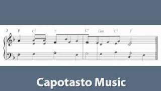 Rosamunde - Easy piano sheet music score