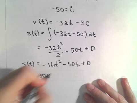 Gravity and Vertical Motion Problem - Calculus