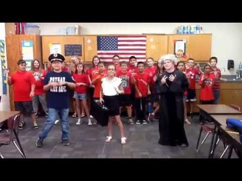 """Poteau Upper Elementary - """"Bill of Rights"""" - Mrs. Chitwood's 5th Graders"""