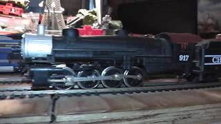 ho mehano chattanooga 0-8-0 2-8-0 runs on track video inside
