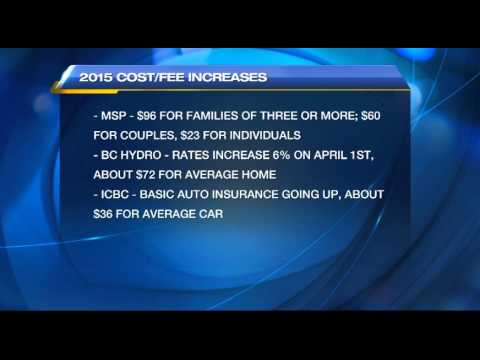 2015 Sees Cost and Fee Increases