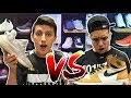 Sneaker Shopping CHALLENGE with LEGIT VLOGS! ADIDAS VS AIR JORDAN!