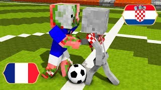 Monster School : World Cup 2018 France vs Croatia - Minecraft Animation