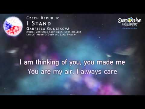 Gabriela Gunčíková - I Stand (Czech Republic) - [Karaoke version]