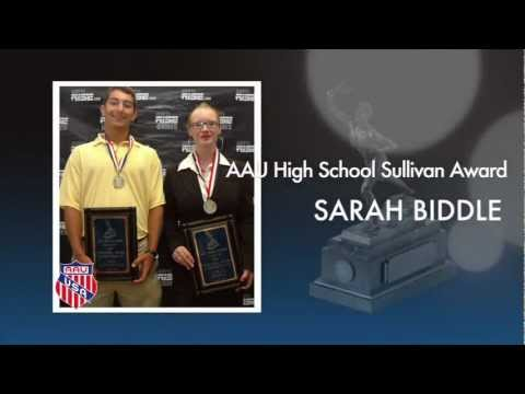 2011 AAU High School Sullivan Award Winner Sarah Biddle
