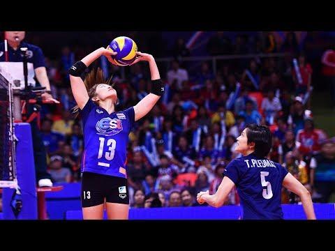 Amazing Volleyball Duo | Nootsara Tomkom & Pleumjit Thinkaow (HD)
