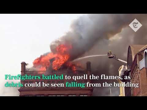 Fire guts historic Belfast building housing a Primark store