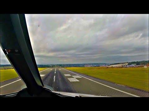 PILOTS VIEW - Airbus A321 Take Off London Luton, LTN