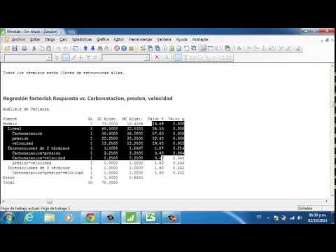 minitab dise o factorial 2 ala 3 ejemplo 6 1 youtube