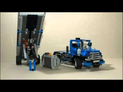 Lego Technic 8052 Container Truck Model B 2010 Slideshow Youtube