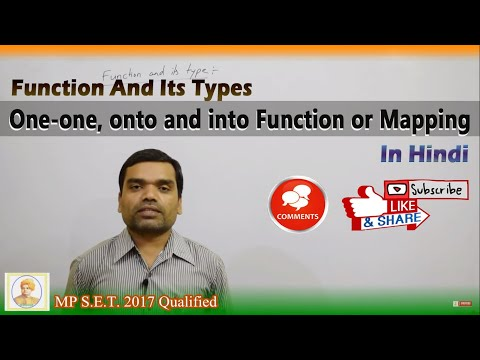 Function And Its Types II One-one II onto and into