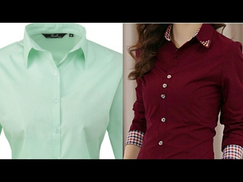 Ladies shirt DIY| ladies shirt cutting and stitching step by step tutorial
